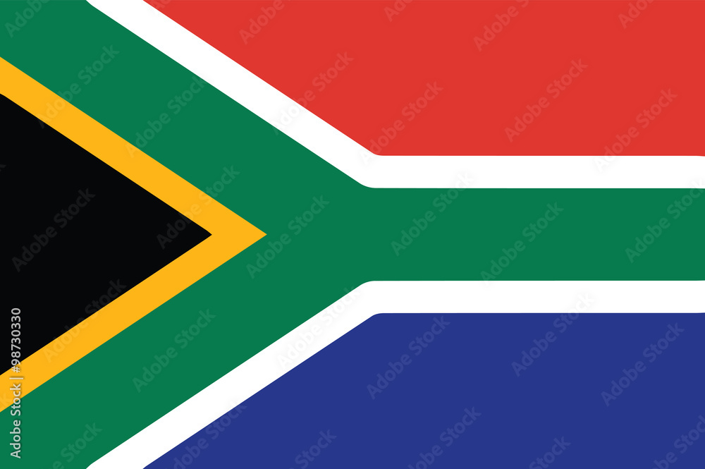 Fototapety, obrazy: Vector of South African flag