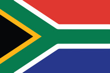 Vector Of South African Flag
