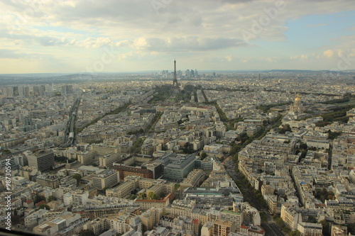 Poster de jardin Paris Paris, view of the city from the Montparnasse Tower