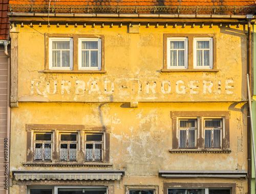 old facade in Bad Frankenhausen Wall mural