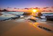 canvas print picture - Sunrise over Sandy's Beach in Honolulu