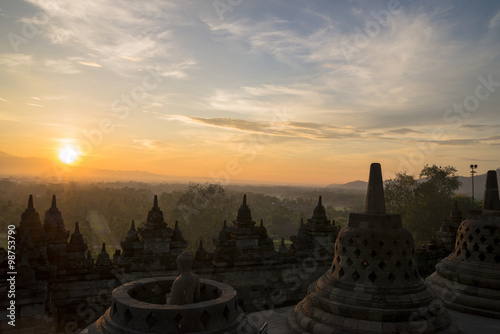 Spoed Foto op Canvas Bali ボルブドゥール寺院サンライズツアー