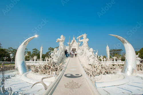 Spoed Foto op Canvas Bedehuis Wat Rong Khun (White Temple),Chiang Rai -Thailand