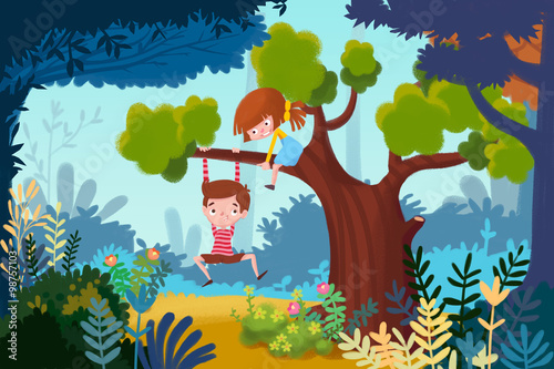 ilustracja-dla-dzieci-maly-chlopiec-i