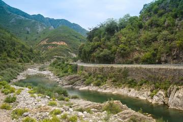 Fototapeta na wymiar Landscape with the image of mountains in Albania