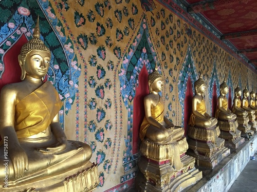 Buddha statues at Wat Arun in Bangkok