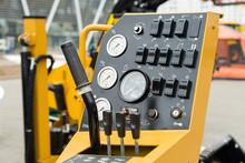 Controls Construction Equipment, Wheel. Shallow DOF