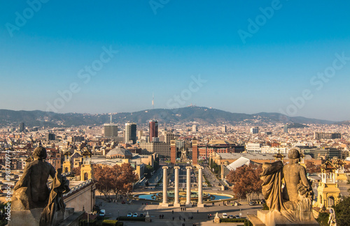 Panoramic View of Barcelona - 98770974