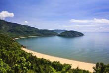 Nam Chon Bay - Hai Van Pass, Da Nang, Vietnam. Tourists Can See The Shape Of A Large Dragon Winding Bends Under Hai Van Pass.