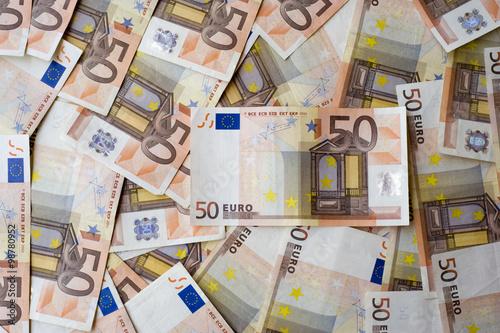 Poster Imagination Concept or conceptual euro paper money banknote texture