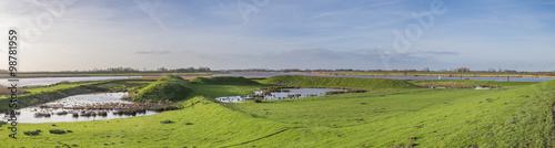 Cuadros en Lienzo Ostfriesische Landschaft, Ems und Leda