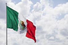 Mexikanische Flagge Im Sonnenl...