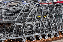 Full Frame Metal Stacked Shopping Carts