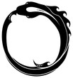 Ouroboros (snake eating its own tail) tattoo isolated