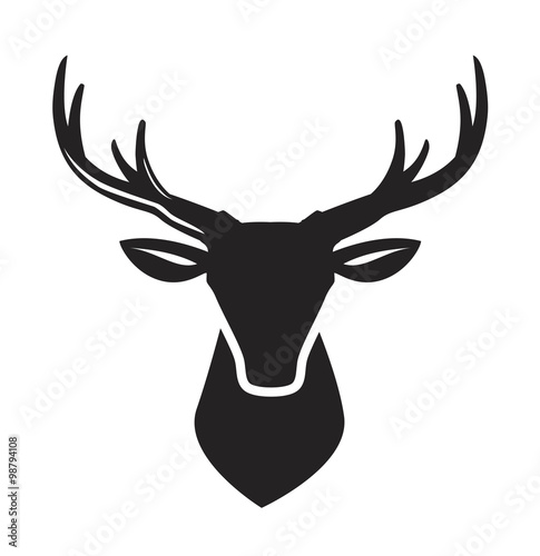 Foto vector black deer head