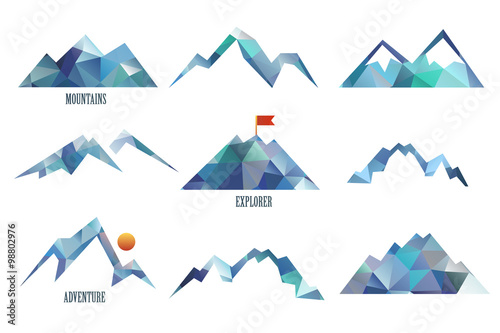 Fototapeta mount triangle vector  illustration obraz