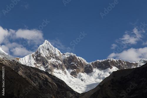 Photo  Mount Artesonraju in Peru