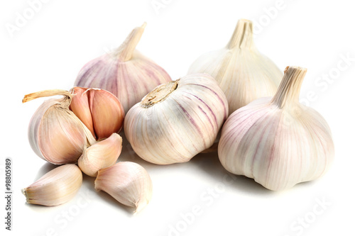 Fotografía  Garlic isolated on white