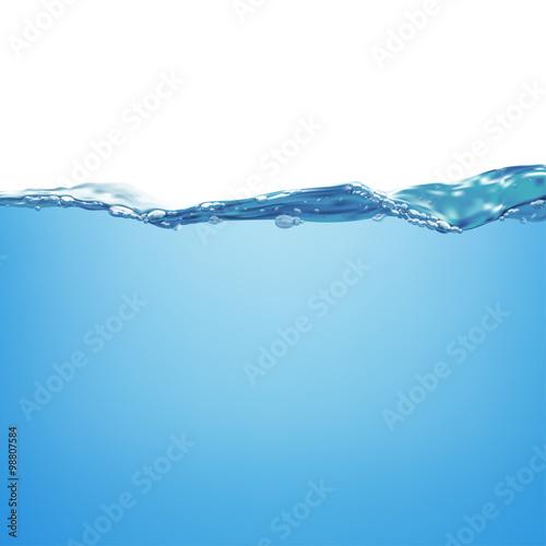 Zdjęcie XXL Fala wody i pęcherzyki powietrza. Ilustracji wektorowych