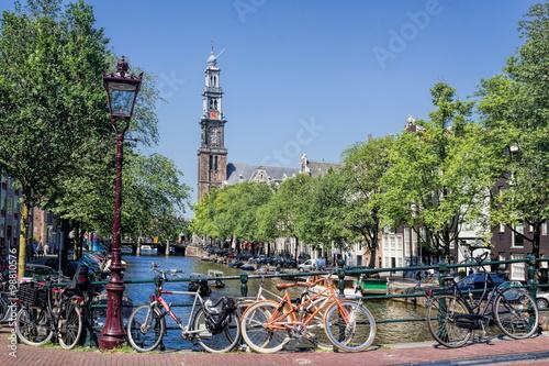 Fahrradstadt Amsterdam Canvas Print