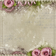 Vintage Background With Purple...