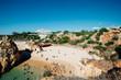 Strand von Portugal aus der Vogelperspektive / Übersichtsaufnahme