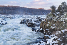 The Great Falls Of The Potomac, A Series Of Dramatic Cascades, As The River Drops Nearly 80 Feet Over Less Than A Mile.