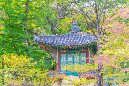 Photo  Beautiful and Old Architecture in Changdeokgung Palace in Seoul