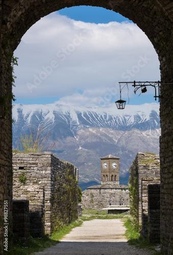 Foto op Plexiglas Cyprus View of the Gjirokaster Castle in Albania