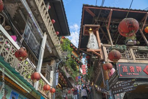 Fotomural  台湾・九份の町並み