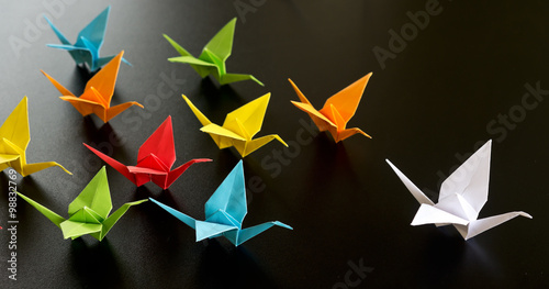 Fototapeta origami birds