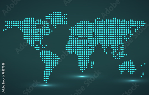 Abstract world map of round dots vector illustration eps 10 buy abstract world map of round dots vector illustration eps 10 gumiabroncs Image collections