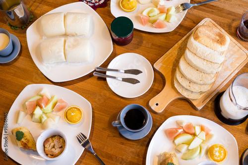 Spoed Foto op Canvas Dessert Morning breakfast
