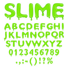 Slime Alphabet Numbers And Symbols
