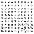 100 Eco icons set