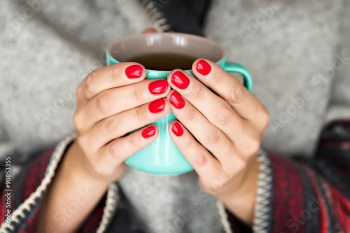 Fotografie, Obraz  hands holding mug