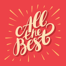 All The Best. Greeting Card.