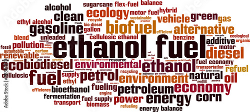 Photo  Ethanol fuel word cloud concept. Vector illustration