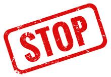 Stop Stempel Grunge Rot