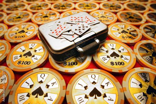 Leinwand Poster  Gambling