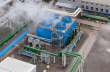 Industrial Blue Cooling Tower ...