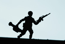 Toy Military Soldier And Gun