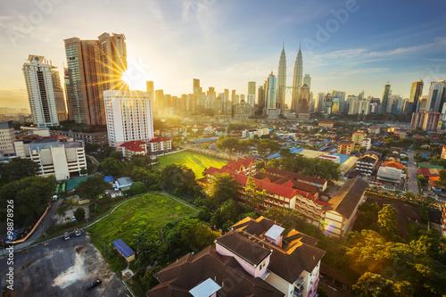 Kuala Lumpur, Malaysia - December 27, 2015. The KLCC Twin Towers Poster