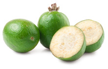 Tropical Fruit Feijoa Isolated...
