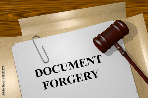 Fotografie, Tablou  Document Forgery concept