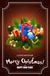 canvas print picture Christmas Greeting Card. Lettering.
