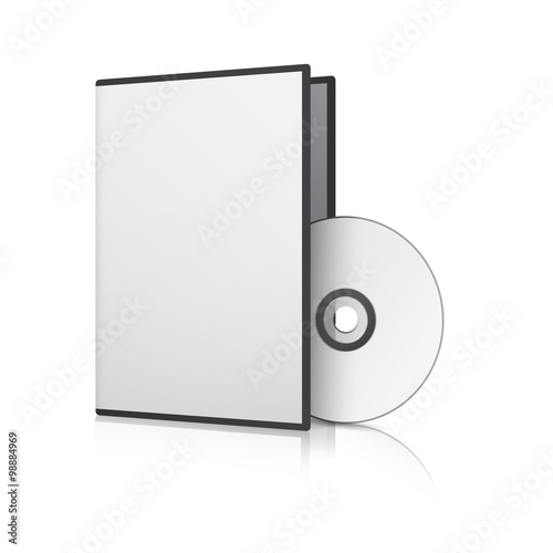 Fotografía  Blank Case and Disk. Vector Illustration