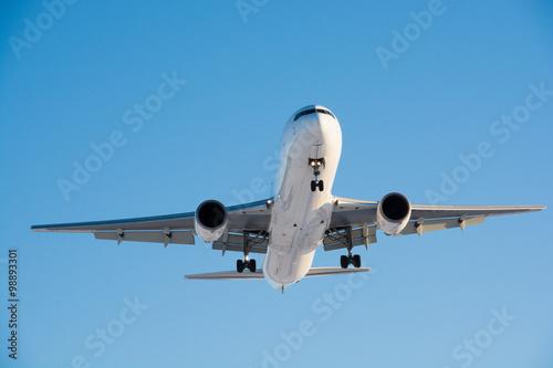 Fotografie, Obraz  着陸態勢のジェット旅客機