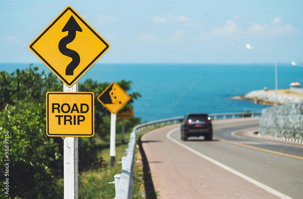 Fototapety, obrazy: road trip