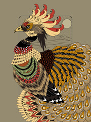Fototapeta sumptuous peacock coloring page